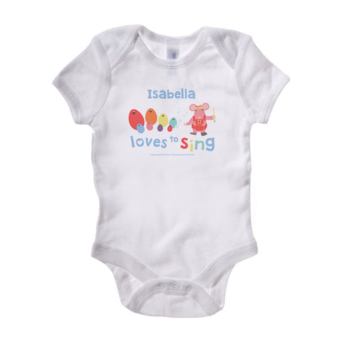 Clangers Loves to Sing Personalised Baby Grow Personalised Baby Grow