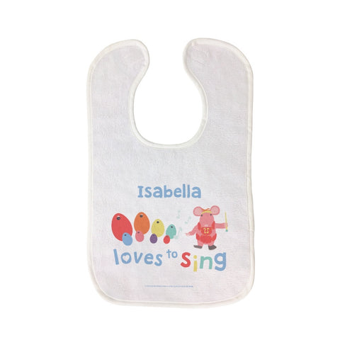 Clangers Loves to Sing Personalised Bib