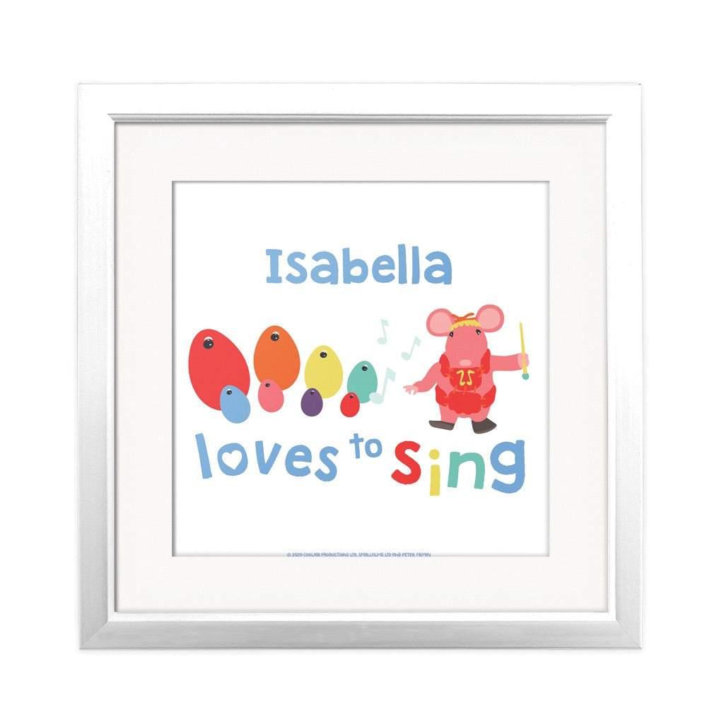Clangers Loves to Sing Personalised Square Art Print Personalised Square Art Print