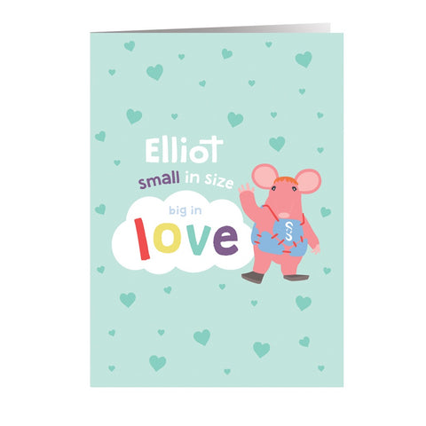 Clangers Small in Size Personalised Greeting Card