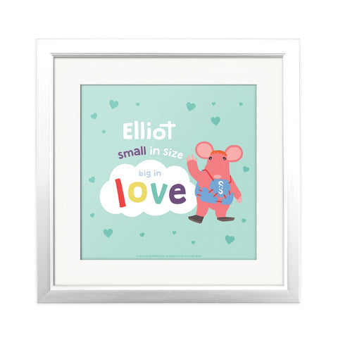 Clangers Small in Size Personalised Square Art Print Personalised Square Art Print