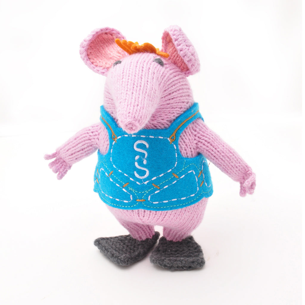 Hand Knitted ChunkiChilli Small Clanger Plush