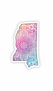 Mississippi Mandala Pattern Sticker