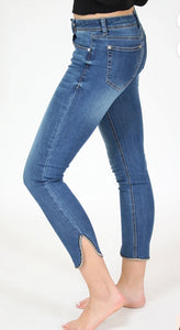 Gold Lurex Ankle Skinny Jeans