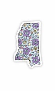 Mississippi Floral Sticker