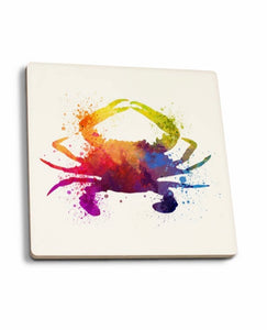 Watercolor Crab Coaster