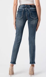 Distressed Medium Wash Skinnies