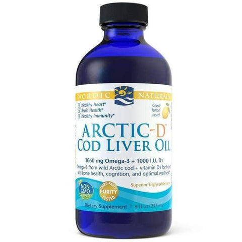 Nordic Arctic D Cod Liver Oil Lemon 237ml