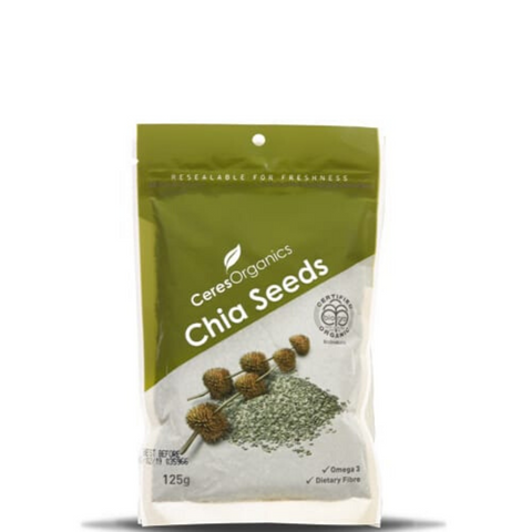 Ceres Black Chia Seeds Organic 125g