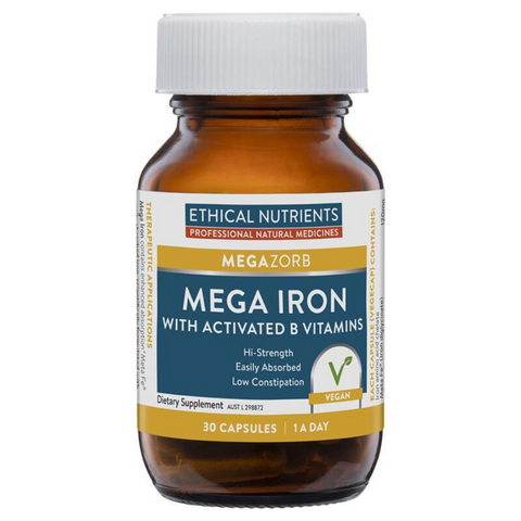 Ethical Nutrients Nutrients Mega Iron 30caps