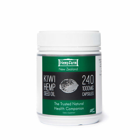 Hemp Farm Kiwi Hemp Seed Oil 240caps