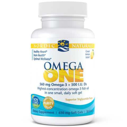 Nordic Omega One Fish Oil Lemon 30caps