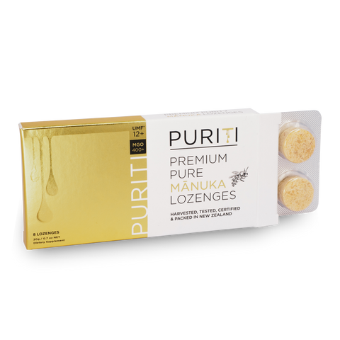 Puriti Premium Manuka 12+ Lozenges 8pack