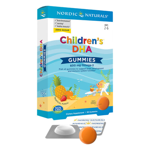 Nordic Children's DHA Gummies Tropical Punch 30 Gummies