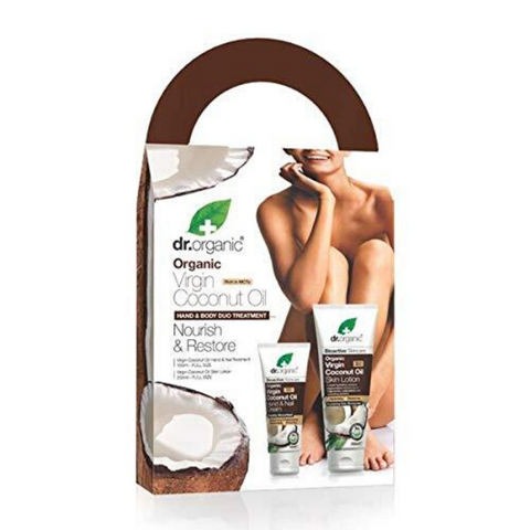 Dr Organic Coconut Oil Hand & Body Gift Pack