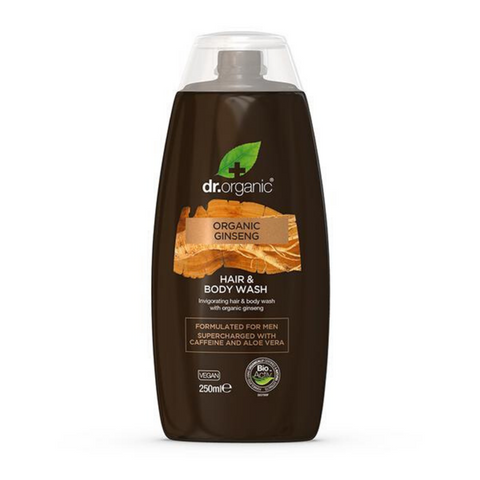 Dr Organic Hair & Body Wash Ginseng 250ml