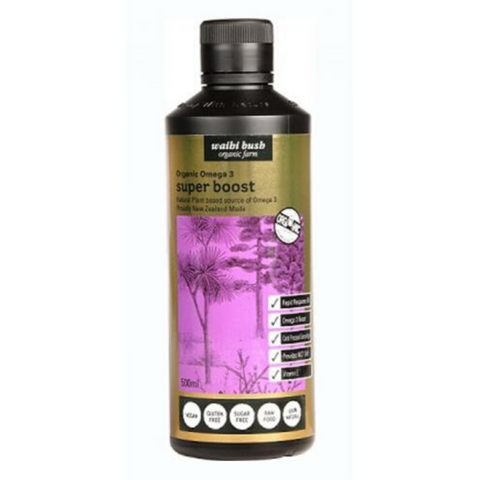 Waihi Bush Super Boost - Organic Omega 3 500ml