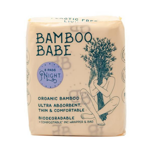 Bamboo Babe Night Pads - 8 Pack (Biodegradable & Compostable)