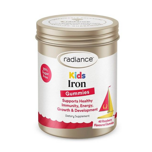 Radiance Kids Gummies Iron 40s raspberry flavour