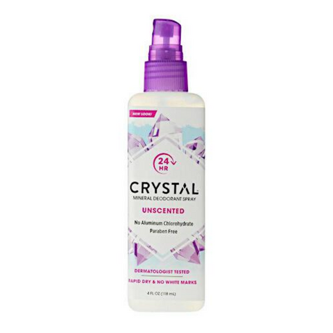 Crystal Spray Deodorant Unscented 118ml