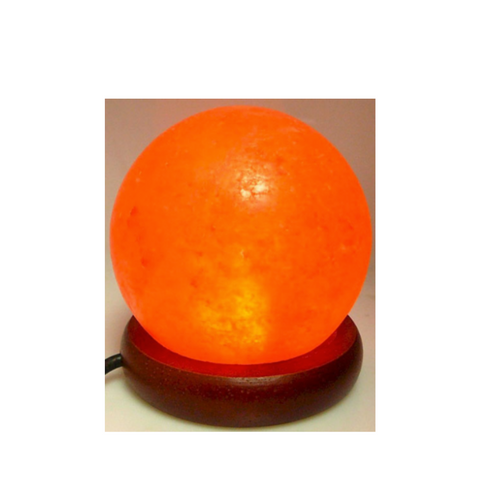 Himalayan Salt Lamp Ball LED USB - Orange