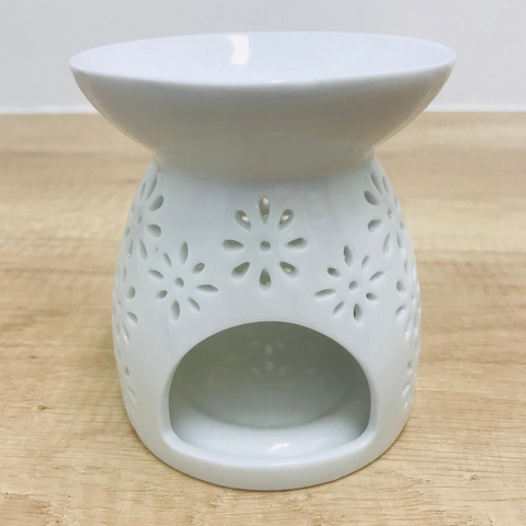 Oil Burner Ceramic - White