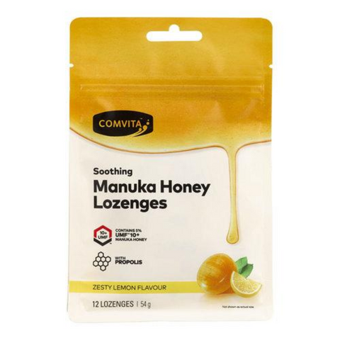 Comvita Zesty Lemon Flavour Lozenges 12 Pack