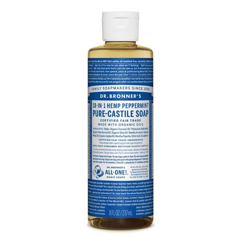 Dr Bronner's Castile Liquid Soap Peppermint 237ml