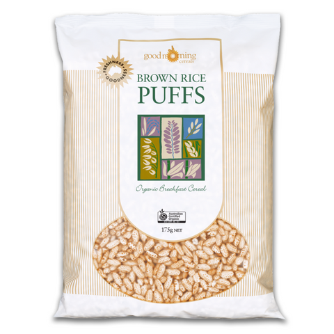 Good Morning Organic Brown Rice Puffs 175g