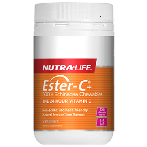 Nutralife Ester-C 500mg + Echinacea Chewable 120tabs