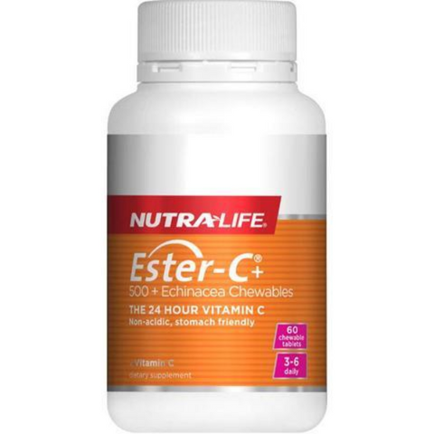 Nutralife Ester-C 500mg + Echinacea Chewable 60tabs