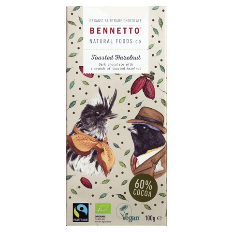 Bennetto Toasted Hazelnut Chocolate 60% 100g org