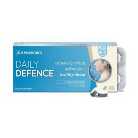 Blis K12 Daily Defence - Vanilla 30 Lozenges