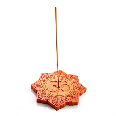 Himalayan Orange Om Incense Burner
