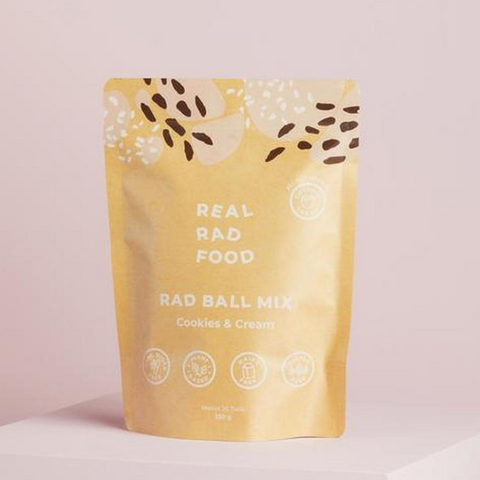 Real Rad Food Cookies & Cream Raw Ball Mix 250g
