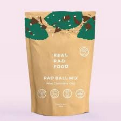 Real Rad Food Mint Choc Chip Ball Mix 250g