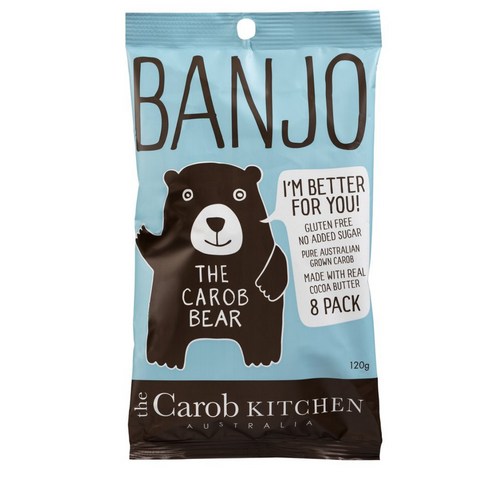 The Carob Kitchen Banjo Bear 120g 8Pack