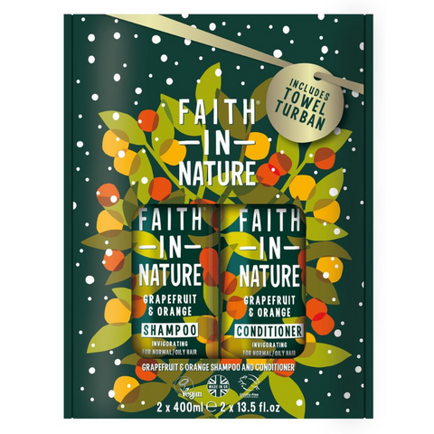 Faith in Nature Gift Set Shampoo + Conditioner - Grapefruit & Orange 2 x 400ml