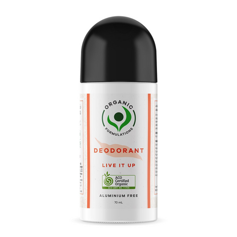 Organic Formulations Deodorant Live It Up 70ml