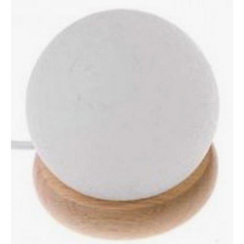 Himalayan Salt Lamp Ball White Mood Change 10cm LED USB
