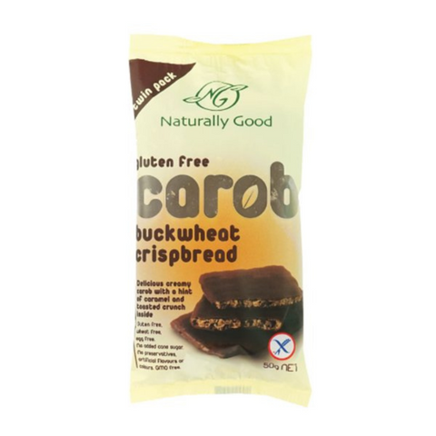 Naturally Good Gluten Free Carob Buckwheat Crispbread 50g