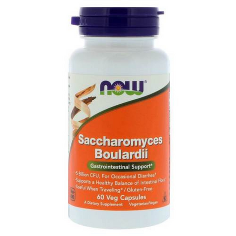 Now Saccharomyces Boulardi Gastro Support 60 Vegie Caps