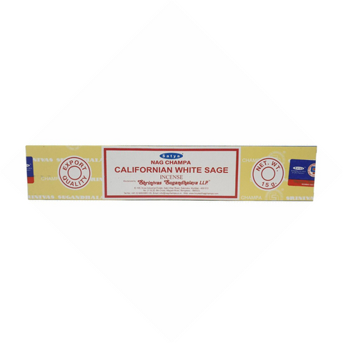 Sathya Nag Champa Californian White Sage Incense 15g