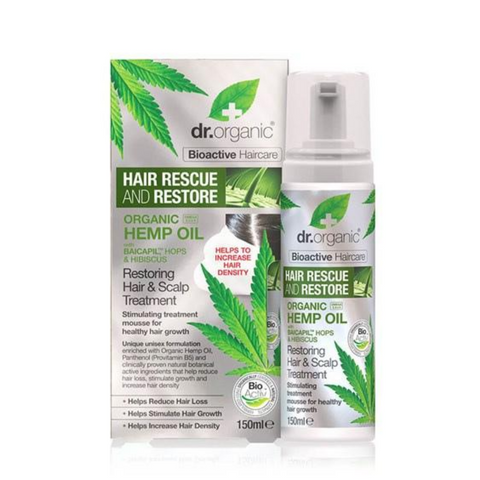 Dr Organic Hemp Restoring Hair & Scalp Treatment 150ml