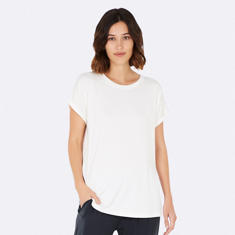 Boody Downtime Lounge Top White Small