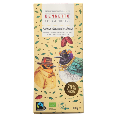 Bennetto Salted Caramel in Dark Chocolate 100g