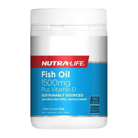 Nutralife Fish Oil 1500mg + Vit D 180caps