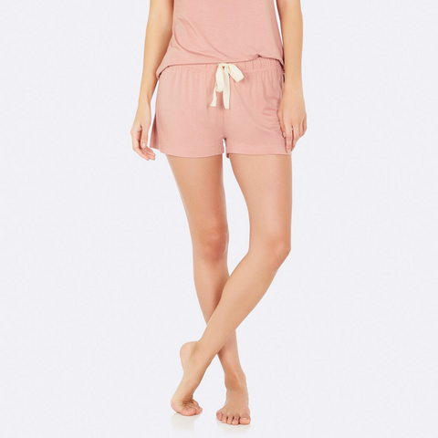 Boody Goodnight Sleep Shorts Dusky Pink XS