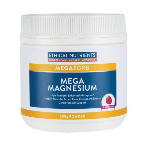 Ethical Nutrients Mega Magnesium Powder Raspberry 250g