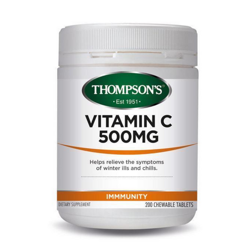 Thompson's Vitamin C 500mg Chewable 200tabs